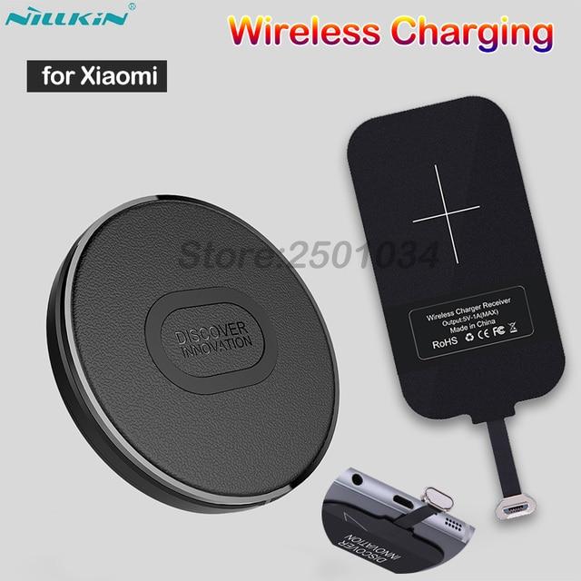 Nillkin Mini Qi Fast Wireless Charger+Micro USB Type A Receiver Wireless Charging for Xiaomi Redmi 7 4X Note 4X 6A 5 6 Plus Pro