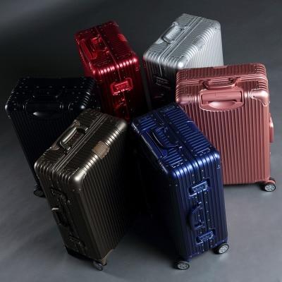 Aluminum-magnesium Alloy Rod Box Female Universal Wheel 22-inch Metal Commercial Suitcase 24-inch 26-inch Aluminum Suitcase CD50