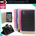 Moda de Luxo de Couro Flip Caso Capa Protetora de Telefone para ARCA Impulso P2 Telefone com Slot para Cartão de 5.0 polegadas Estilo 5 Cores Em Estoque