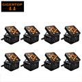 8 шт./лот TIPTOP 12x15 Вт RGBWA 5 в 1 DMX управление черный корпус цвет LED беспроводная батарея свобода пар двойной слой для сценической стирки