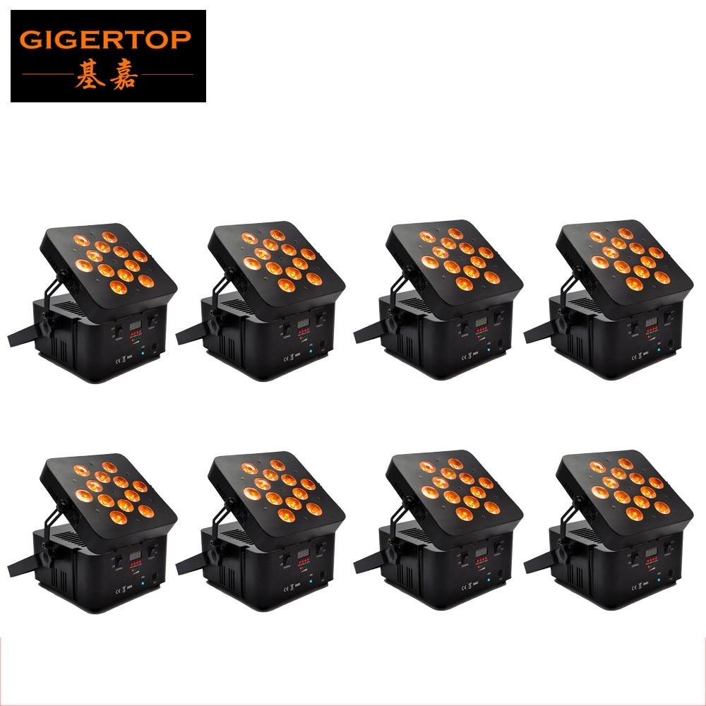 8ks / šarže TIPTOP 12 * 15 W RGBWA 5 v 1 DMX ovládání černé pouzdro barva LED bezdrátová baterie Freedom Par dvojitá vrstva pro mytí fáze