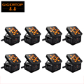 8pcs/lot TIPTOP 12*15W RGBWA 5 IN 1 DMX Control Black Housing Color LED Wireless Battery Freedom Par Double Layer For Stage Wash