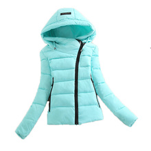 2016 new women winter jacket casual solid outerwear coat with hooded parka cotton-padded