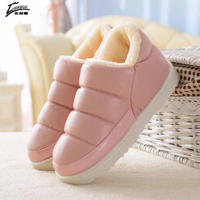 Women Winter Shoes Warm Slippers Women Slippers For Home Fur Slippers Indoor House Shoes Woman Plush Size 2018