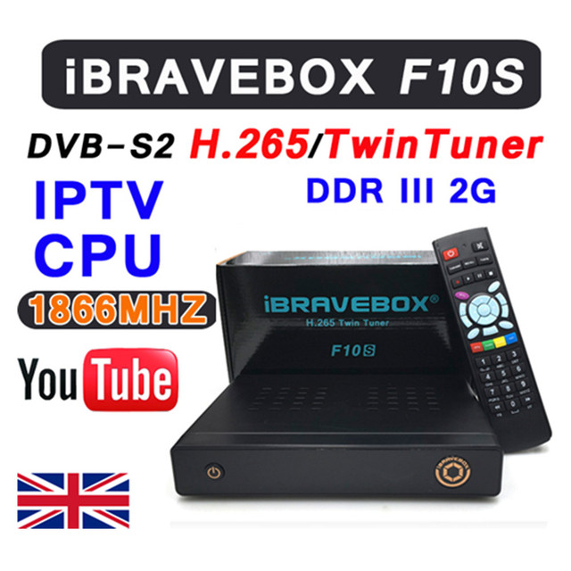 iBRAVEBOX F10S DVB-S2 TwinTuner HD Satellite Receiver H.265 Support CCCCAMD NEWCAMD IKS USB Wifi Media Player With LED Display