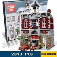 2413pcs Fire Brigade Hall DIY Model Building Blocks Minifigures Toys Compatible With Lego