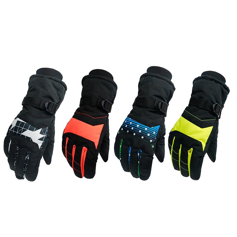 Windproof Wear-resistant Riding Ski Gloves Mountain Skiing Snowmobile Waterproof Snow Gloves