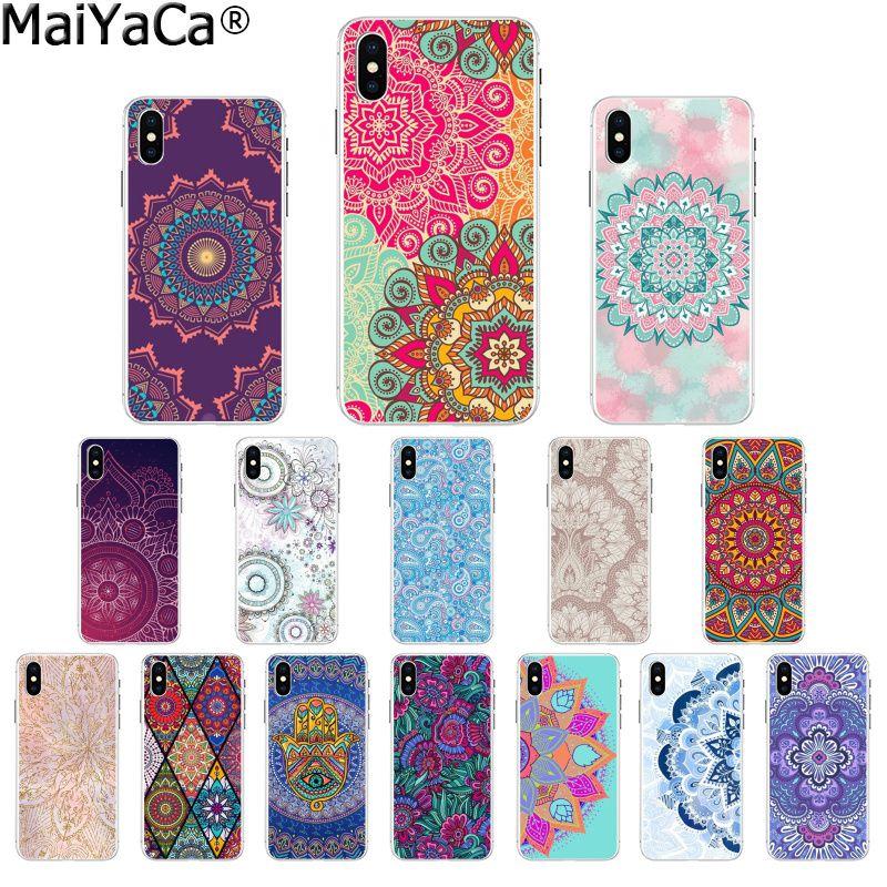 Maiyaca Artist Mandala Patterns Diy Printing Drawing Phone Case
