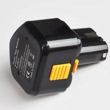Bloco recarregável da pilha da bateria de 9.6 v 3000mah ni-mh para a chave de fenda elétrica sem fio eb912s eb914 eb914s eb924 da broca de hitachi