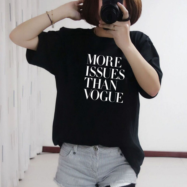 THE COOLMIND cotton more issues than vogue women tshirt