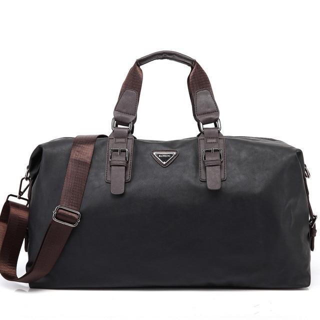PU de cuero de los hombres bolsa de viaje de lona, bolsos masculinos, tote bolsa de fin de semana, maleta de equipaje, para viajar, bolsa de hombre