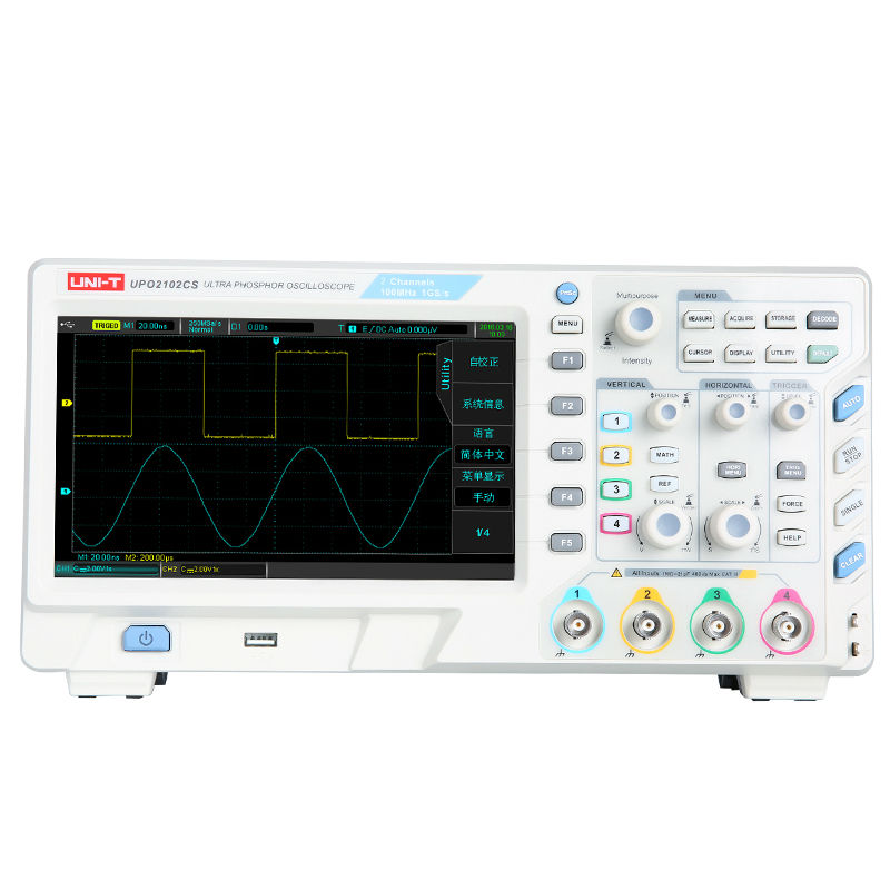 UNI T UPO2102CS Ultra Phosphor Oscilloscope 2 Channels 100MHz 1GSa/s USB PC Host Osciloscopio 8inch TFT LCD CE/ETL Approved jarred kriz fisher investments on financials