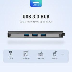 Image 3 - Vention Thunderbolt 3 Dock USB רכזת סוג C כדי HDMI USB3.0 RJ45 מתאם עבור MacBook סמסונג דקס S8/S9 huawei P30 פרו usb c מתאם
