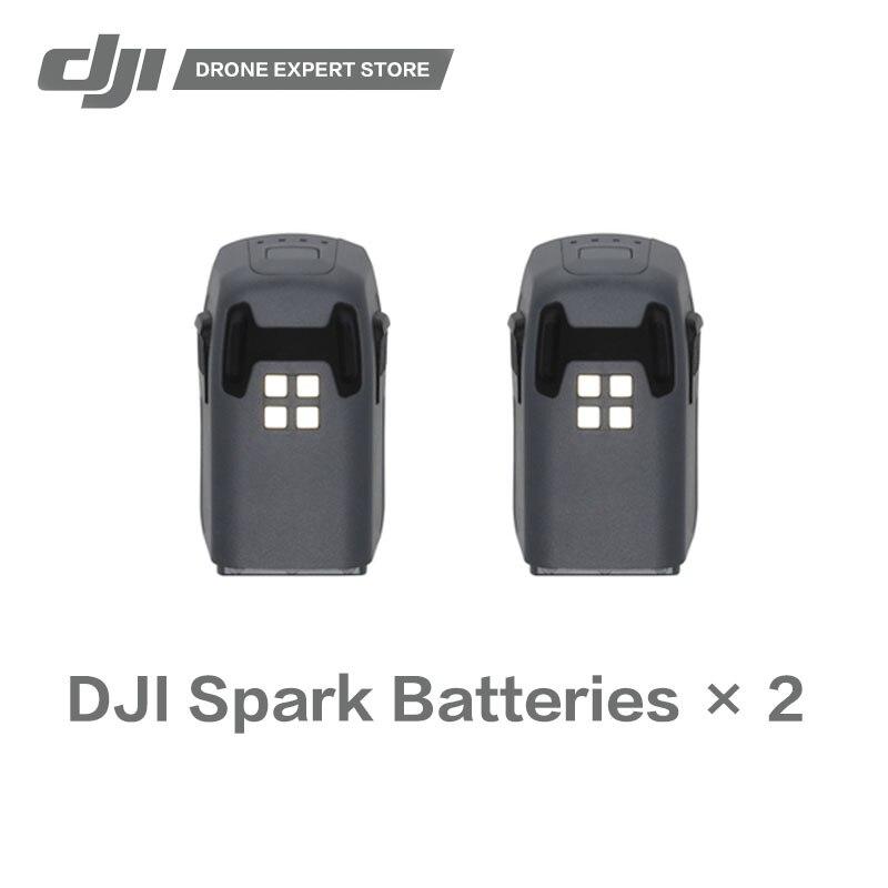 2 шт./компл. оригинальный DJI Spark Интеллектуальный полета Батарея 16-минуту Макс время полета