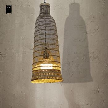 Lampada A Sospensione Asiatica | Di Bambù Di Vimini Rattan Lampada A Sospensione Apparecchio Asiatico Appeso Rustico Lampada Da Soffitto Avize Luminaria Casa Da Pranzo Sala Da Tè Ristorante Bar