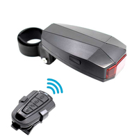 WasaFire Remote Control Bicycle Tail Light Intelligent led reflector sensor 3 Modes USB Rechargeable Bike Light Anti theft Alarm