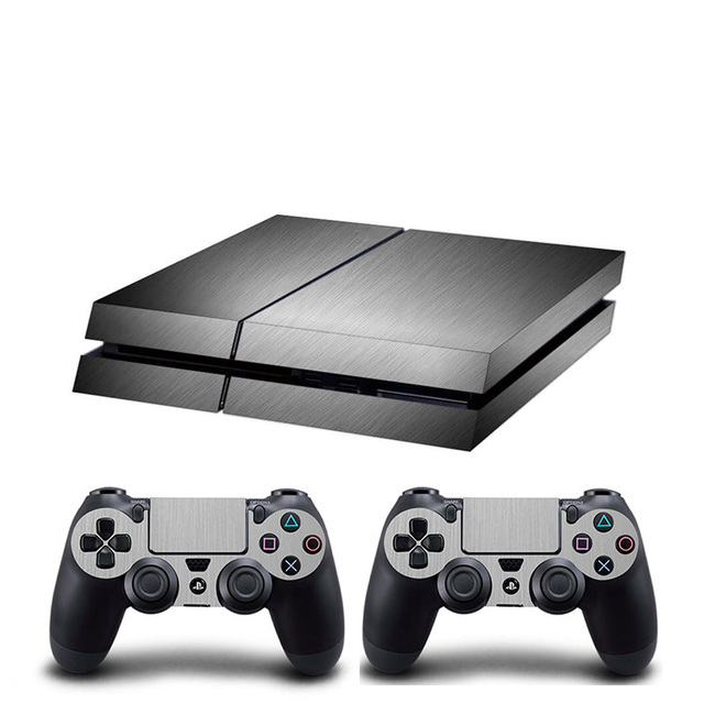 HOMEREALLY PS4 Skin Chrome Gold and Custom Vinyl HD Sticker For Sony Plsaystation4 Console and Controller Skin PS4 Accessory 1