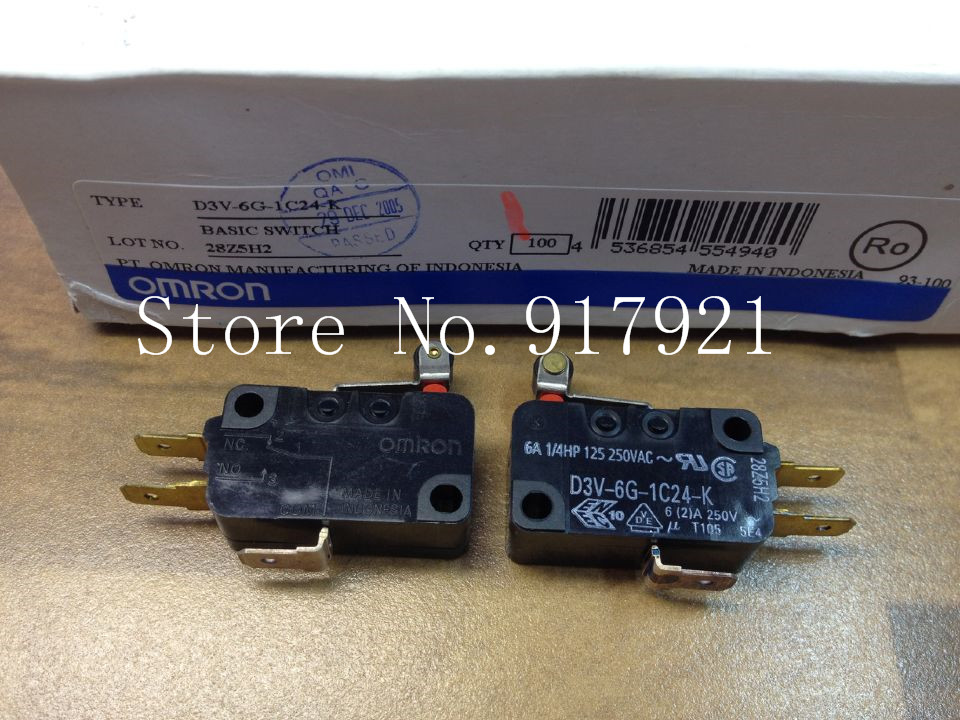 [ZOB] original original D3V-6G-1C24-K short wheel micro switch 28Z5H2 switch genuine original --50pcs/lot
