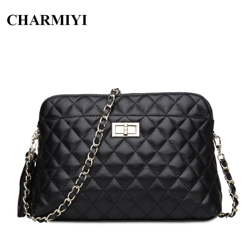 CHARMIYI Genuine Leather Shell Women Shoulder bag Designer Clutches Ladies Handbags Famous Brand Fashion Women Messenger bags fashion women leather handbags imperial crown small shell bag women messenger bag ladies shoulder crossbody bag clutches bolsa