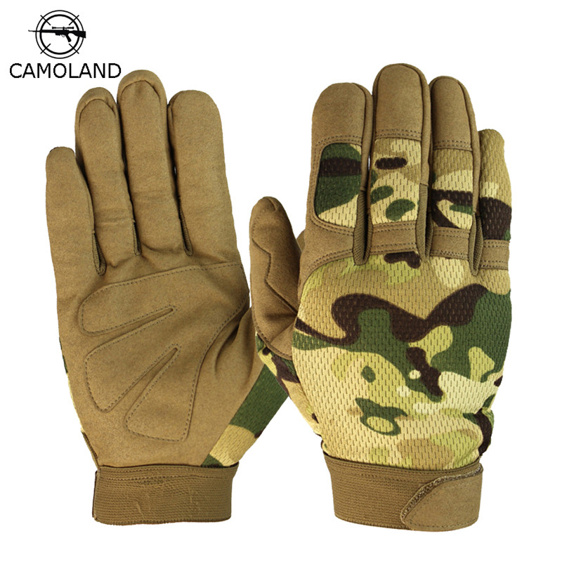 2019 Men's Military Tactical Gloves Full Finger US Army Airsoft Fighting Combat Gloves Outdoor Sports Workout Bicycle Mittens