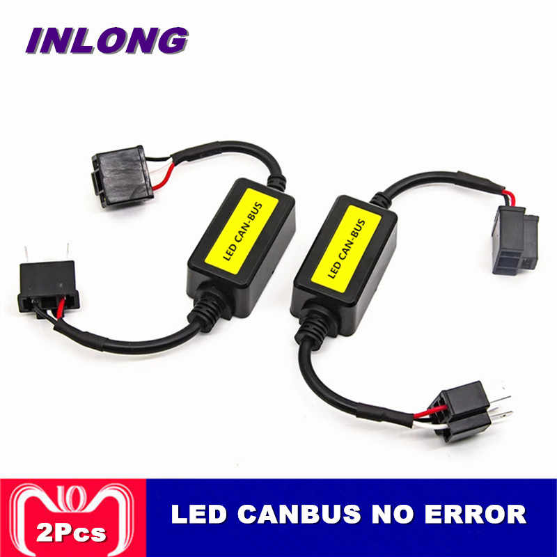 INLONG Error Free Canbus Decoder For LED Headlight for Car SUV Led Car Bulb Fog Lamps Can-Bus H4 H7 H8 H11 H13 9005/HB3 9006/HB4