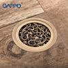 GAPPO Drains Bathroom Shower Drains Shower Floor Cover Antique Brass Shower Drain Strainer Drain Stopper