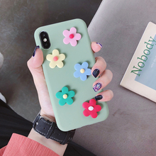 matte 3d candy color flower case for Huawei p30 p20 lite pro p8 p9 p10