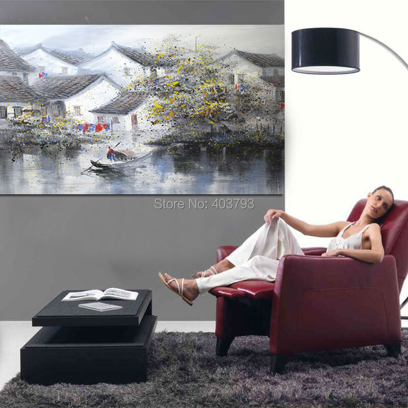100% Hand Painted Traditional Chinese Ink Abstract Oil Painting On Canvas Modern Wall Art Picture Painting For Living Room