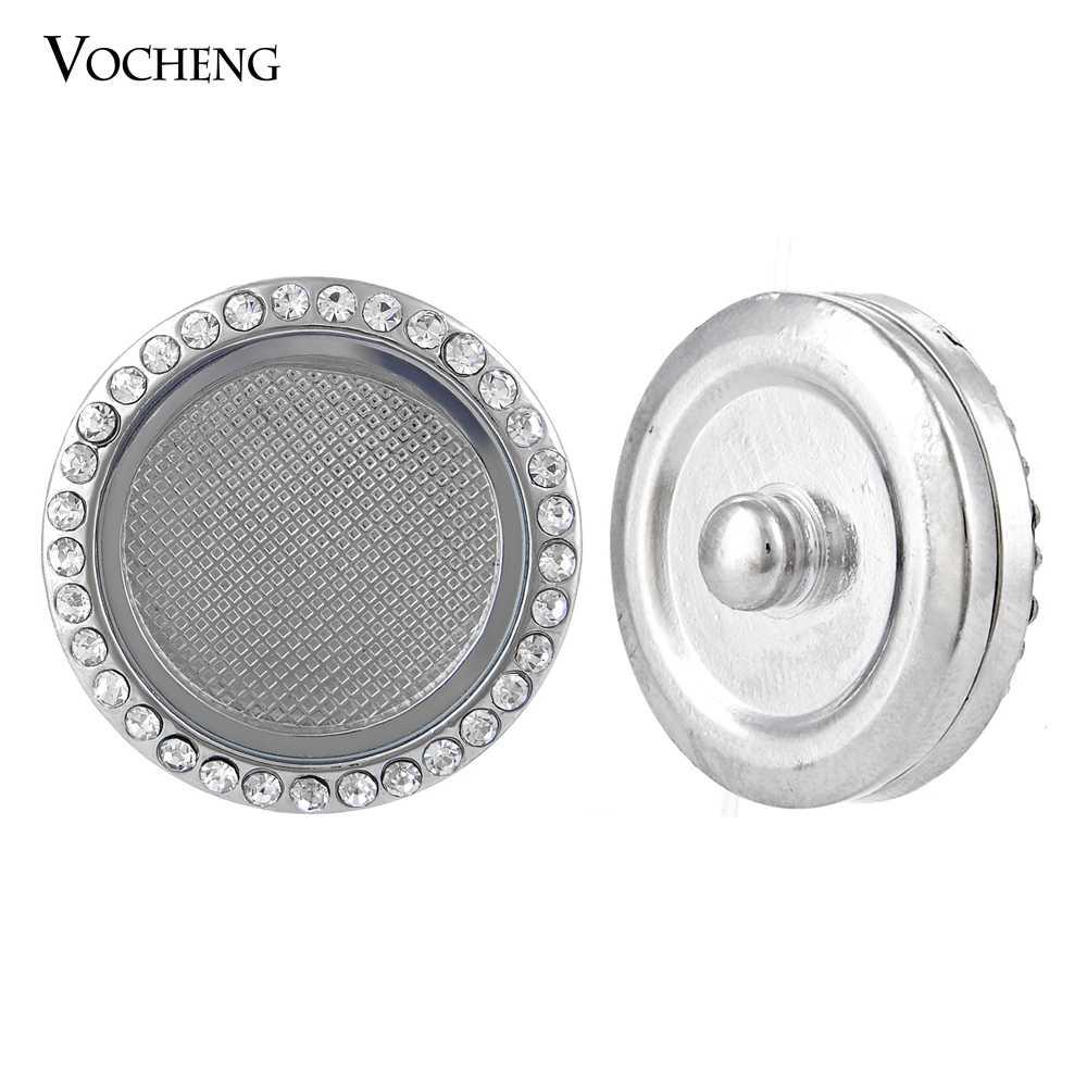 18mm Vocheng Snap Charms okrągłe szklane otwierany wisiorek inkrustowane kryształowy guzik Vn-906