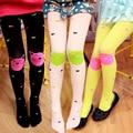 Весенние девушки колготки красивые конфеты цвет тонкая девушка колготки милый мультфильм cat дети колено высокие носки удобные бархатные колготки