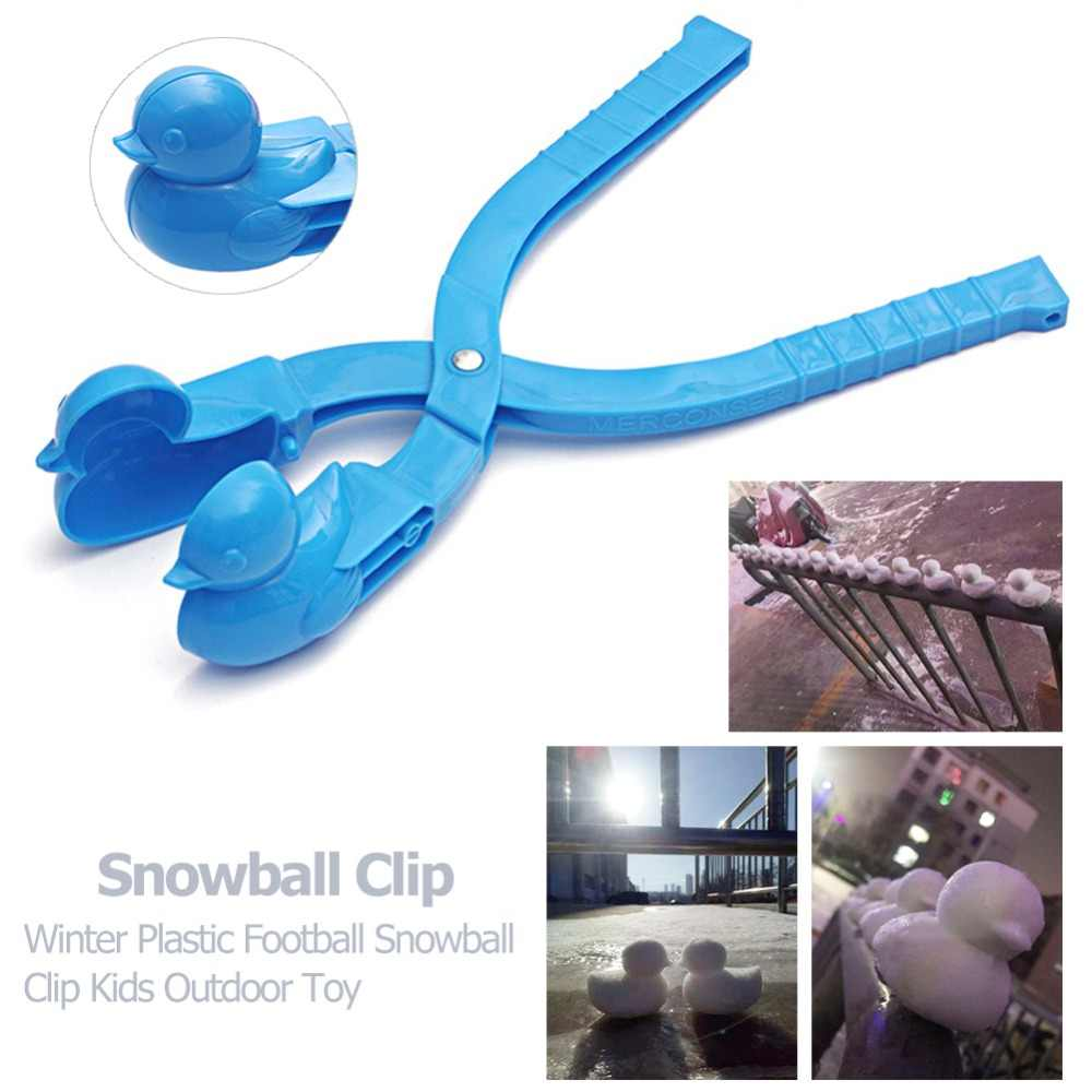 4pcs Winter Snowball Maker Toy,Duck Shaped Snowball Maker Clip,Cartoon Duck Snowball Maker Toy,Outdoor Winter Snow Sand Mold Tool Toys for Kids and Adults