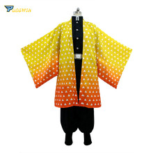 Anime Demon Slayer Agatsuma Zenitsu Kimono Cosplay Costume Custom Made
