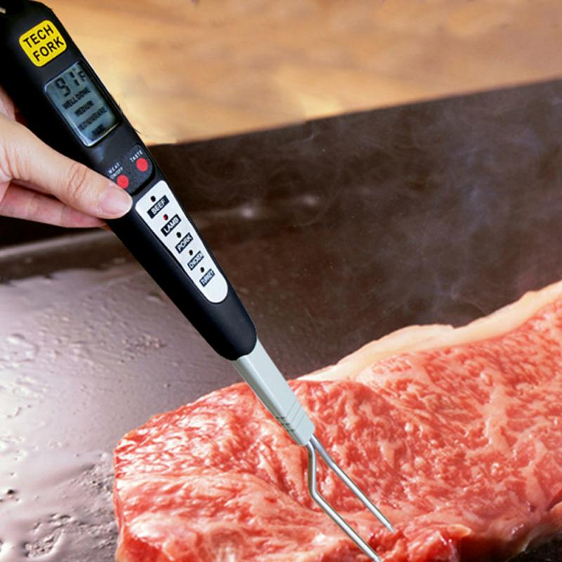 Smart Digital Meat Thermometer Instant Probe Read Best 5 BBQ Cooking Program Fork BBQ Cooking Tools Electronic Barbecue Tool
