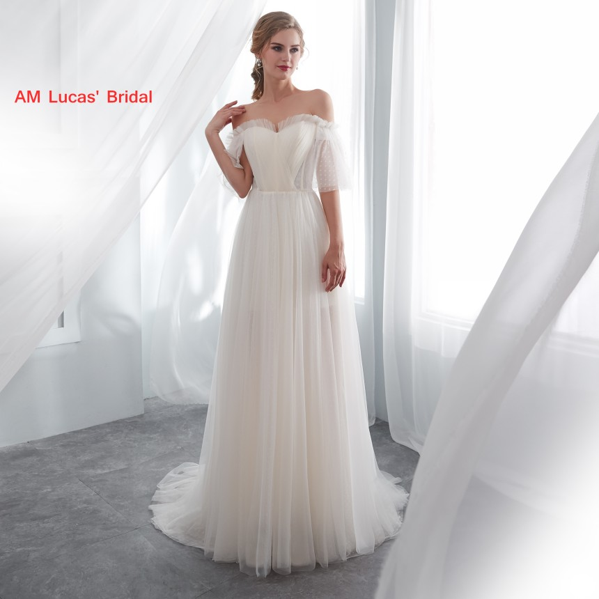 Disney Wedding Dresses 2019: Long Sexy Wedding Dresses With Sleeves 2019 New Sweep