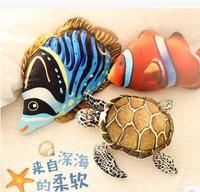 Livraison gratuite 40 CM simulation coussin oreillers poissons Tropicaux en peluche jouets colorzied décor à la maison doux en peluche oreiller coussins enfants jouet