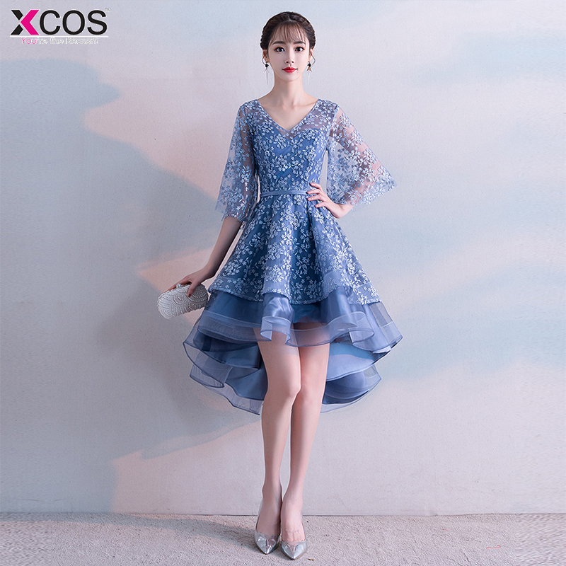 New Cheap V neck Sexy Short Homecoming Dresses With Appliques tulle Dresses graduation 2019 charms Prom Party Gowns
