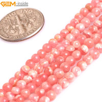 Gem Inside AAA Grade Genuine Natural Round Pink Argentina Rhodochrosite Precious Stone Beads For Jewelry Making