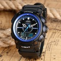 Free Drop Shipping Men's Watches Alarm LCD Sports Wristwatches Waterproof 3ATM Outdoor Tactical Wrist Watch montre homme