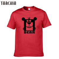 TARCHIA Plus Size XXL 2017 Fashion Brand Men's T Shirt Bear Print Short Sleeve T Shirt Men Slim Fit Summer Casual Mens T Shirts