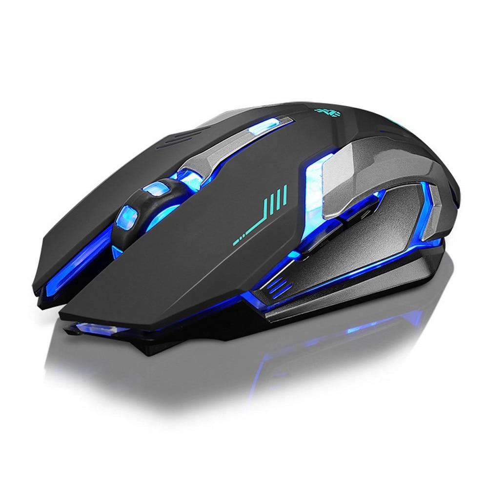 Ricaricabile X7 Senza Fili Retroilluminazione A LED USB Ottico Ergonomico Gaming Mouse Sem Fio di Modo Giochi Per Computer Del Mouse Per Pro Gamer