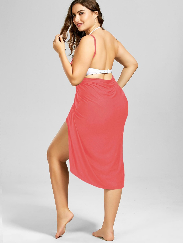 HTB1EuszavWG3KVjSZPcq6zkbXXaH Wine Red Sarong Beach Dress 2019 Holiday Beachwear Women Summer Dress Beach Sexy Robe Spaghetti Straps Big Size Wrap Vestido 5XL