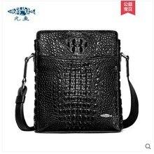 цена на yuanyu New crocodile leather men's bag genuine imported crocodile leather cross body bag genuine crocodile leather bag single