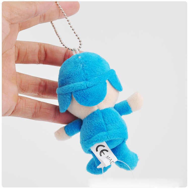 10 cm Anime Dos Desenhos Animados Pocoyo Plush Pingente Sofe Recheado Bonecas Brinquedos de Pelúcia Com Chaveiro Pingentes Brinquedo Bom Presente Para As Crianças