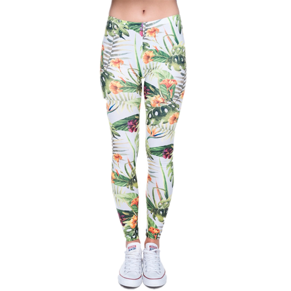 Brand Fashion Camo Branches 3D Printing High Quality Slim Legging Women Casual Home Leggings Woman Pants