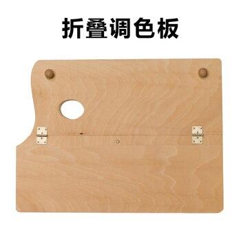 Krotnie Paleta Obraz Olejny Pigmentu Drewniana Paleta Szkic łatwe Do Przenoszenia Przybory Do Akwareli