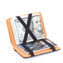 лучшая цена Korean Version of the Personality Magic Wallet Men's Fashion Creative Card Package Men and Women PU Leather Multi-Card Wallet