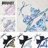 RUUHEE Brand Sexy Cross Swimwear Women Bikini Set Bandage Bathing Suit Push Up Bikini 2017 Hot