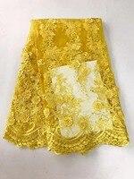 Higt calidad 3D Flor de Novia de Encaje Apliques Con Motivos Bordados Coser en Vestido de fiesta. vestido de Dama FC17-JYZ06 5y
