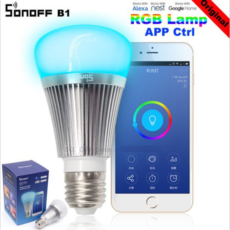 Sonoff B1 Led Bulb Dimmer Wifi Smart Light Bulbs Remote