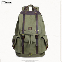 Men Male Canvas Backpack Gray Casual Rucksacks aptop Backpacks College Student School Backpack Women Mochila for Adults Khaki